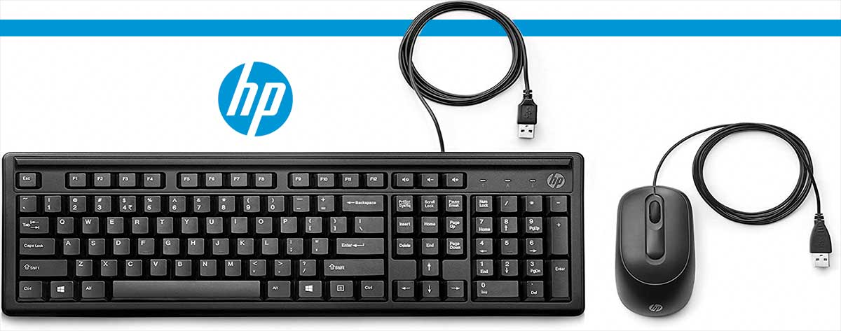 Best HP Slim Wired Keyboard and Mouse 160 Combo Set Online India