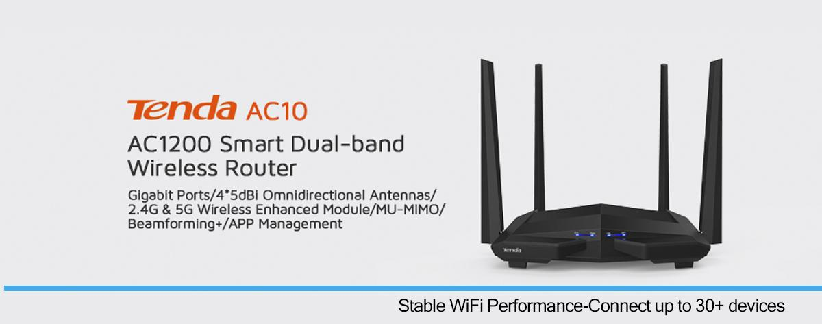 Best Tenda AC1200 Wireless Strong Dual Band Gigabit Wifi Router Online India