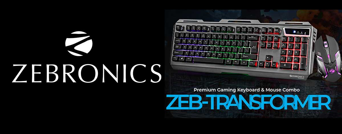 Best ZEBRONICS RGB Backlit Gaming Keyboard Mouse Combo Online India