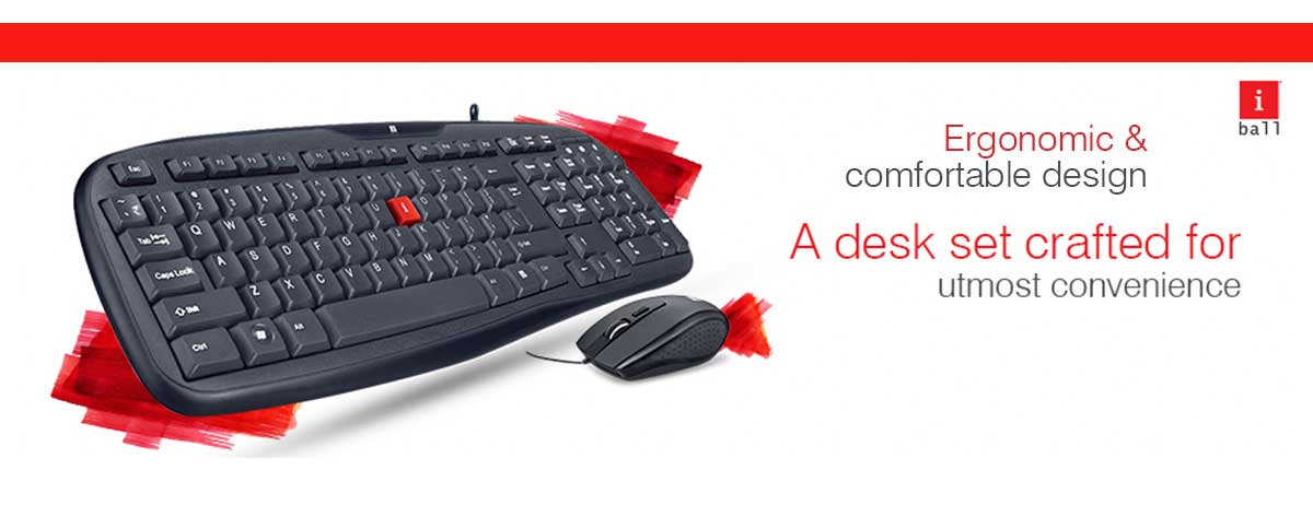 Best iBall Water Resistant Keyboard and Mouse Combo Set Online India