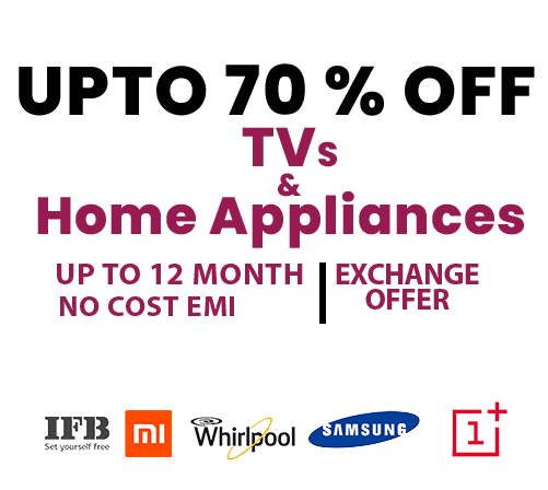 Best Great Indian Festival Sale Deals On TV And Home Appliances Online Dicount Offer India 2020 V1