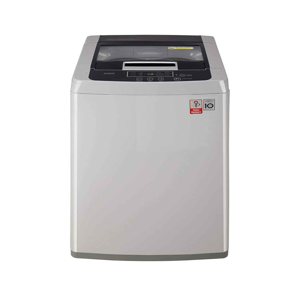 LG 6.5 Kg 5 Star Smart Inverter Fully-Automatic Top Loading Washing Machine (T7585NDDLGA, middle free silver) Online India 2020
