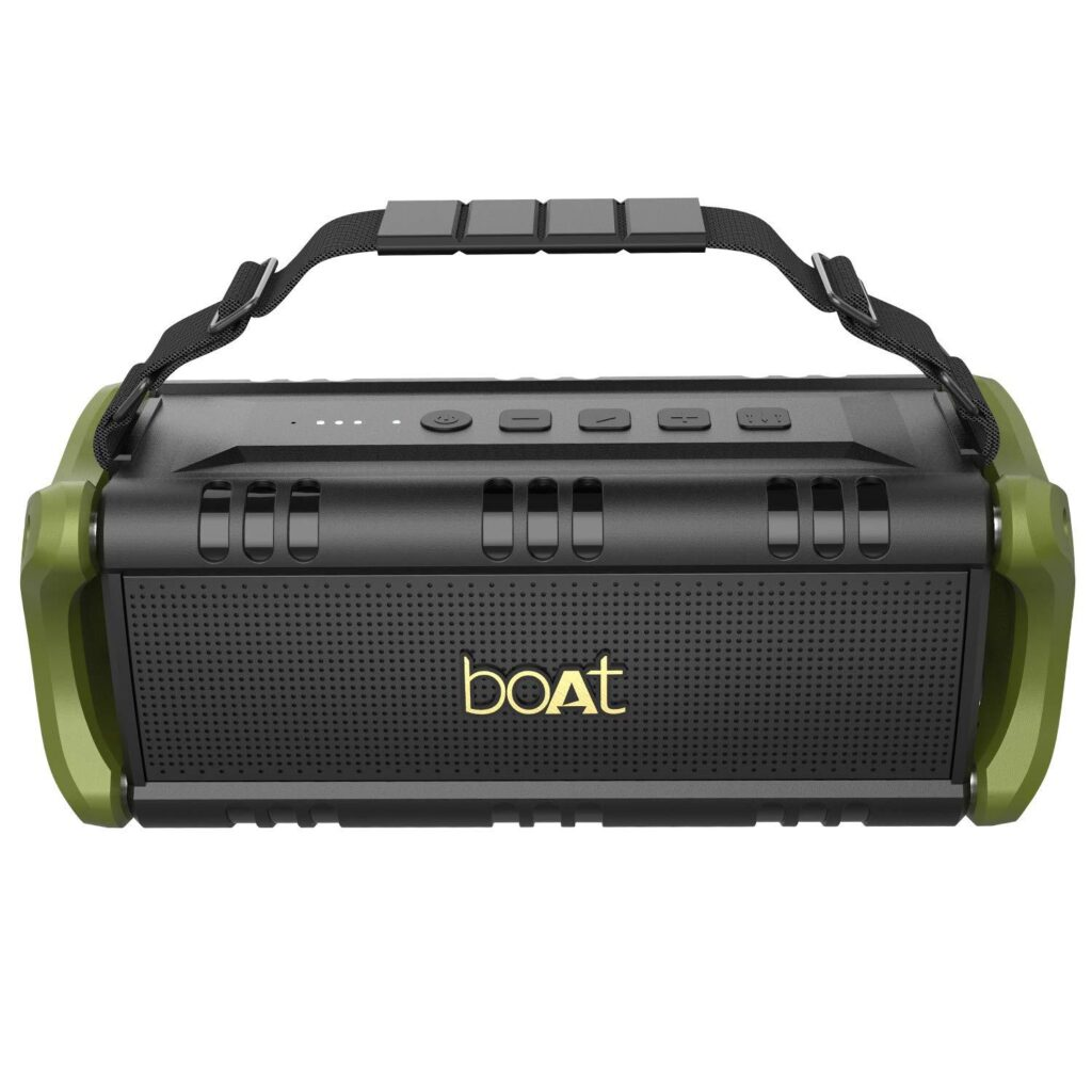 boAt Stone 1400 30W Wireless Bluetooth Speaker with IPX 5 Water Resistance, EQ Modes (Army Green)